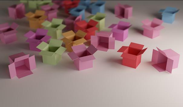 Utiliser une boîte en carton pour promouvoir son activité